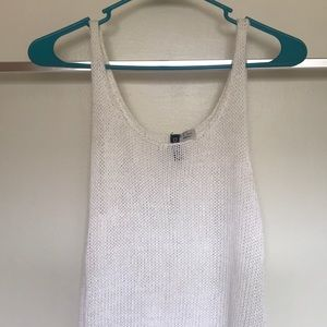H&M White Crocheted Tank Dress (size 6)
